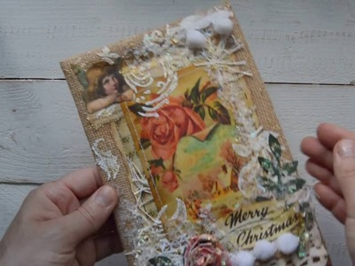 Vintage style Christmas cards. DT Tsunami Rose project for September.