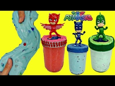 D.I.Y. Do It Yourself PJ MASKS Slime Putty, Kid Craft Owlette, Catboy, Gekko Orbeez, Glitter. TUYC