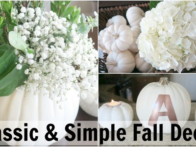 DECORATE WITH ME! DIY FALL ROOM DECOR IDEAS! 2016