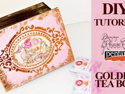 Decoupage Tutorial Tea Box