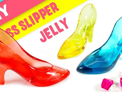 DIY 3D Crystal Glass Slipper Jelly !! Cinderella Glass Slipper Jello
