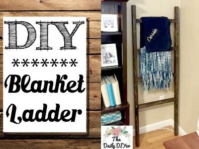 *DIY* Blanket Ladder