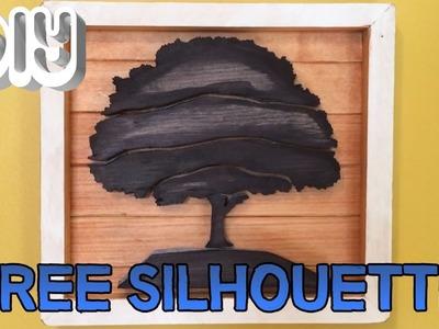 [DIY BUILD] Wooden Tree Silhouette Art