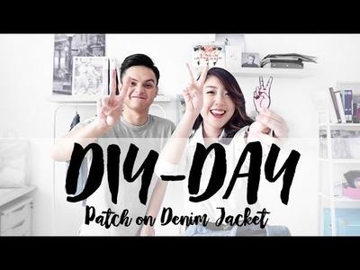 DIY DAY | Patch on Denim Jacket (feat.) Stefani Tan