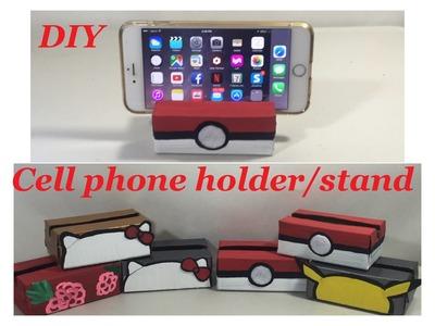 DIY Desktop Cell Phone Holder.Stand Pokemon Pokeball, Pikachu, Hello Kitty etc.  #22