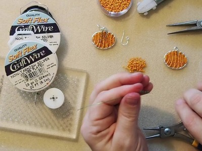 DIY Episode 21: Use Soft Flex® Craft Wire To Make Beaded Pumpkin Earrings Or Pendant