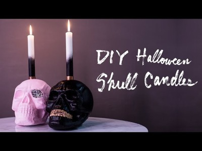 DIY Halloween Skull Candle Holders