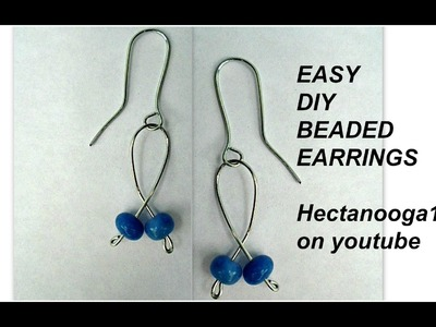 DIY, HOW TO MAKE BEADED EARRINGS, so quick and easy.  Jewelry making, Craft projects.