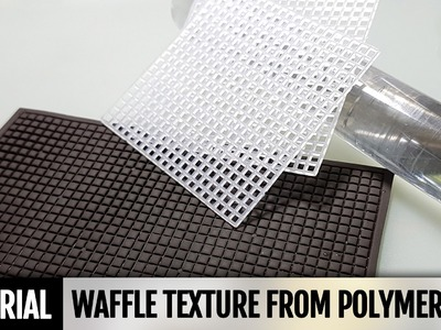 DIY How to make Handmade Waffle texture from polymer clay and how you can use it
