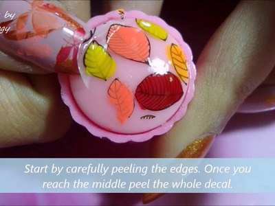 DIY HOW TO make PERFECT nail art DECALS using 5 diffrent methods. Autumn Leaves nail design.
