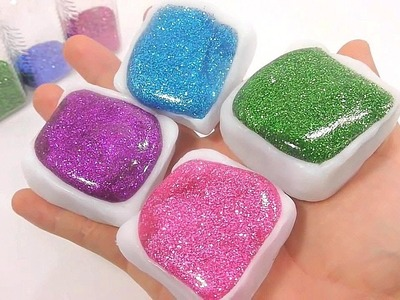 DIY How To Make Plastic Clay Glitter Slime Learn Colors Numbers Counting Baby Doll Bath Time BINGO