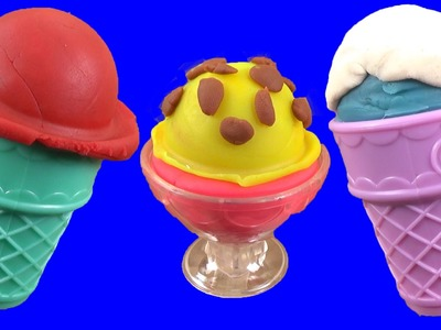 DIY How To Make 'Play Doh Icecream' Learn Colors,  Play Doh Popsicles Scoops 'n Treats DIY Ice Cream