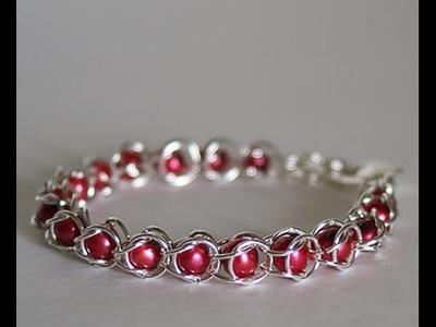 DIY: Jump Ring Bracelet - Chain Maille Bracelets + Tutorial .