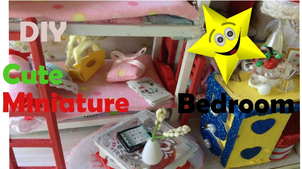 DIY MINIATURE CUTE DOLL HOUSE VERY ADORABLE BEDROOM KIT WITH WORKING LIGHTS