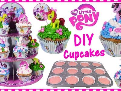DIY MLP Pinkie Pie CUPCAKES! Decorate Fluttershy Applejack Princess Celestia! SWEET Baking FUN!
