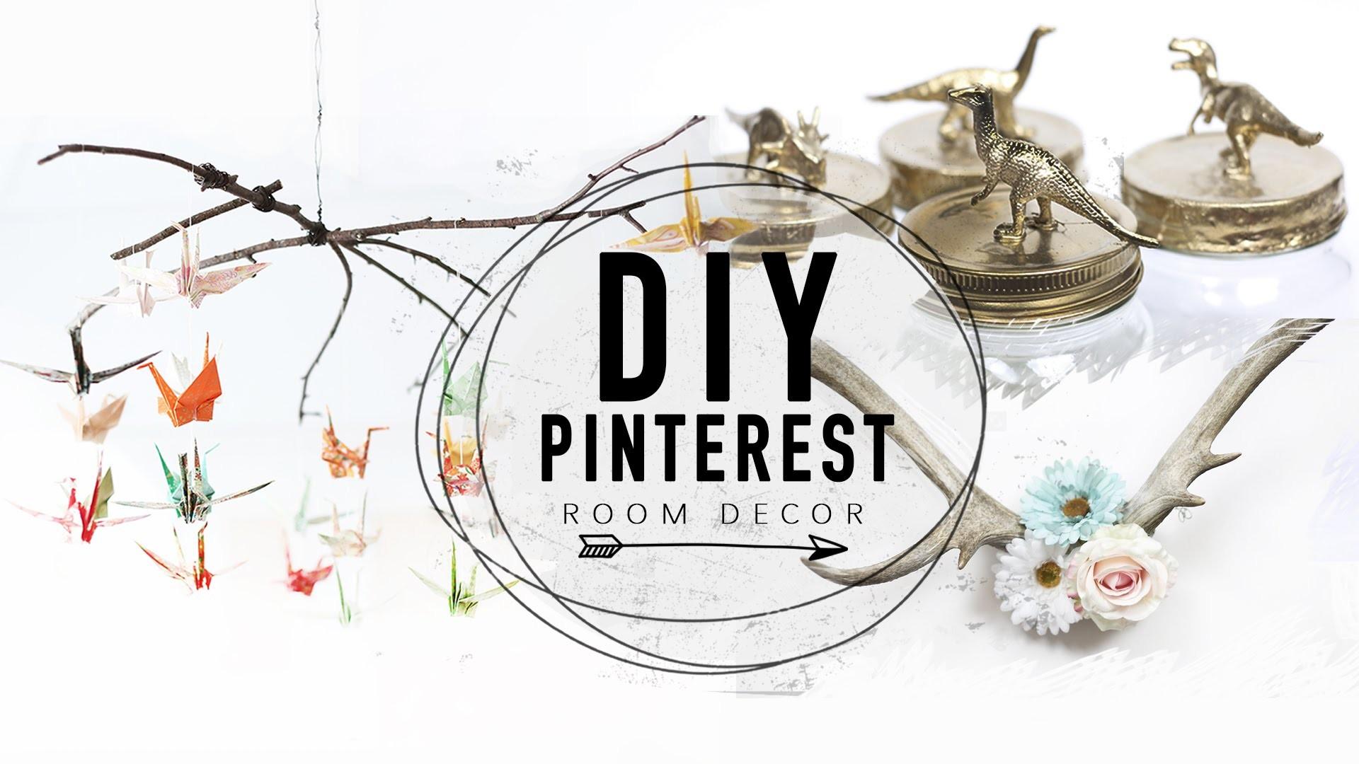 DIY Pinterest Inspired Room Decor Ideas! - 4 Easy & Cheap DIYS