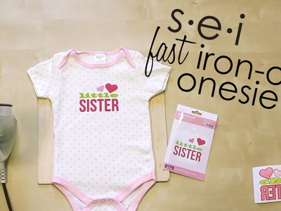 DIY Quick Onesie Decoration - Baby Shower. SEI Crafts