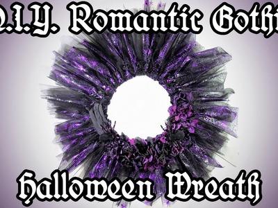 DIY Romantic Gothic Halloween Wreath - Easy Halloween Decoration Crafts