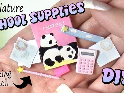 Easy Miniature School Supplies. DIY Dolls.Dollhouse