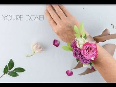 Flower Moxie DIY Wrist Corsage   ~SUPER FAST TUTORIAL~