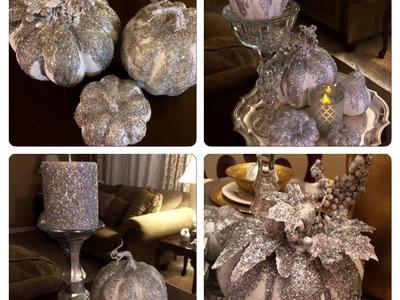 Glittery, Glammy Pumpkins DIY (Z Gallerie Inspired)