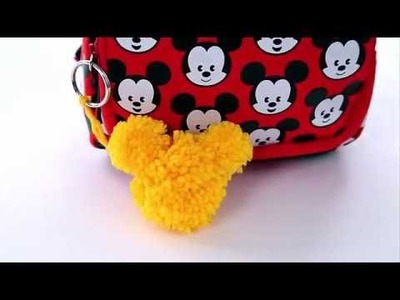 Hacer un Llavero pompón de Mickey Pom Pom Llavero , Club Moments DIY Family