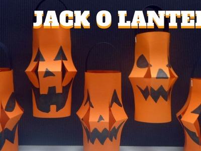 Halloween Craft - Jack O Lantern - Pumpkin Jack O Lantern