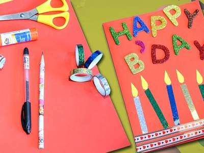 Happy Birthday Greeting Card | DIY Birthday Card | Easy Craft for Kids at home
