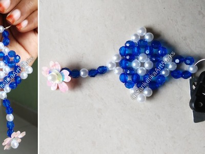 How To Make Beautiful Keychain With Beads - DIY Fancy Beads Key Chain