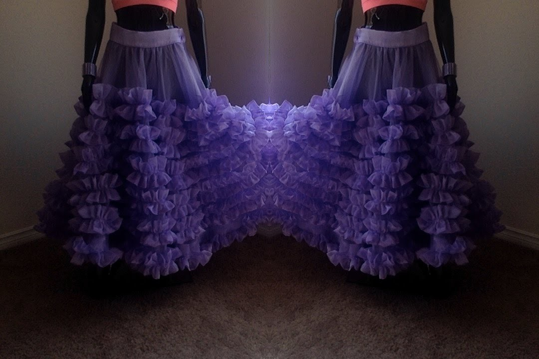 How to Make Designer Ruffled DIY Skirt | Zip Method |