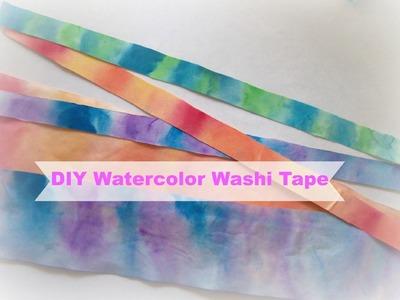 How to make watercolor washi tape. DIY Washi tape