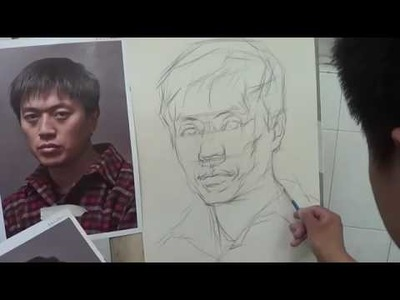 Portrait Drawing with Pencil - Portrait of young man - Drawing Tutorial Online