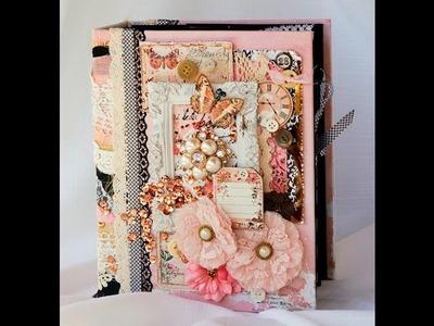 Prima Rossibelle Scrapbook Mini Photo Album Reneabouquets Design Team Project