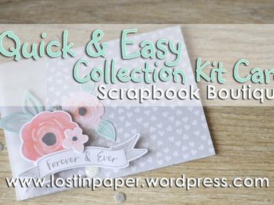 Quick & Easy Collection Kit Card -  Cocoa Vanilla Studio and Scrapbook Boutique!