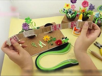 Quilling Paper Flower Pot Plant Paper Art Craft Tool Set