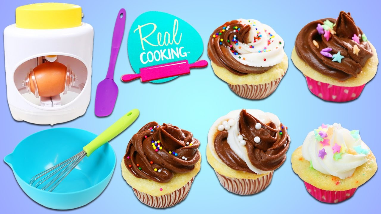 Real Cooking ULTIMATE BAKING Starter Set DIY Fun & Easy Bake Your Own Sprinkles Cupcakes!
