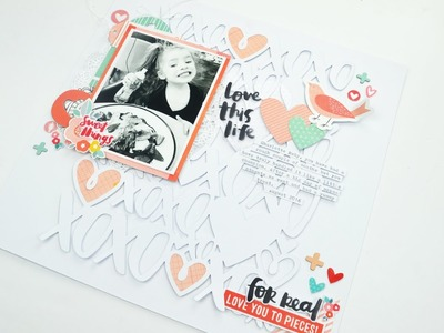 Scrapbook Process Video - Love You to Pieces; Hip Kit Club
