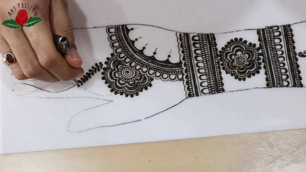 Tutorial 14 : layout and design tips and same layout part 1 : simple stylish mehendi design