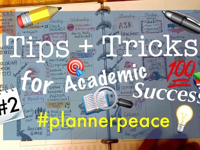 Tutorial: Color Coding and Tips for Functional Student Planner Peace - Part 2
