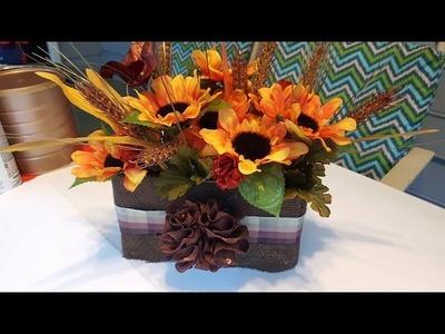 Upcycle DIY Fall Flower Box - GiftBasketAppeal