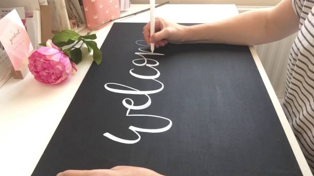 Welcome to The Chalk Spot - Home of Modern Signwriting - perfect for DIY Brides