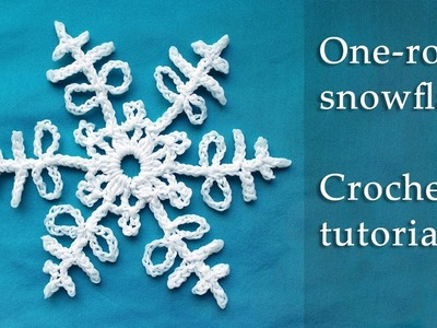 1 row crochet snowflake tutorial