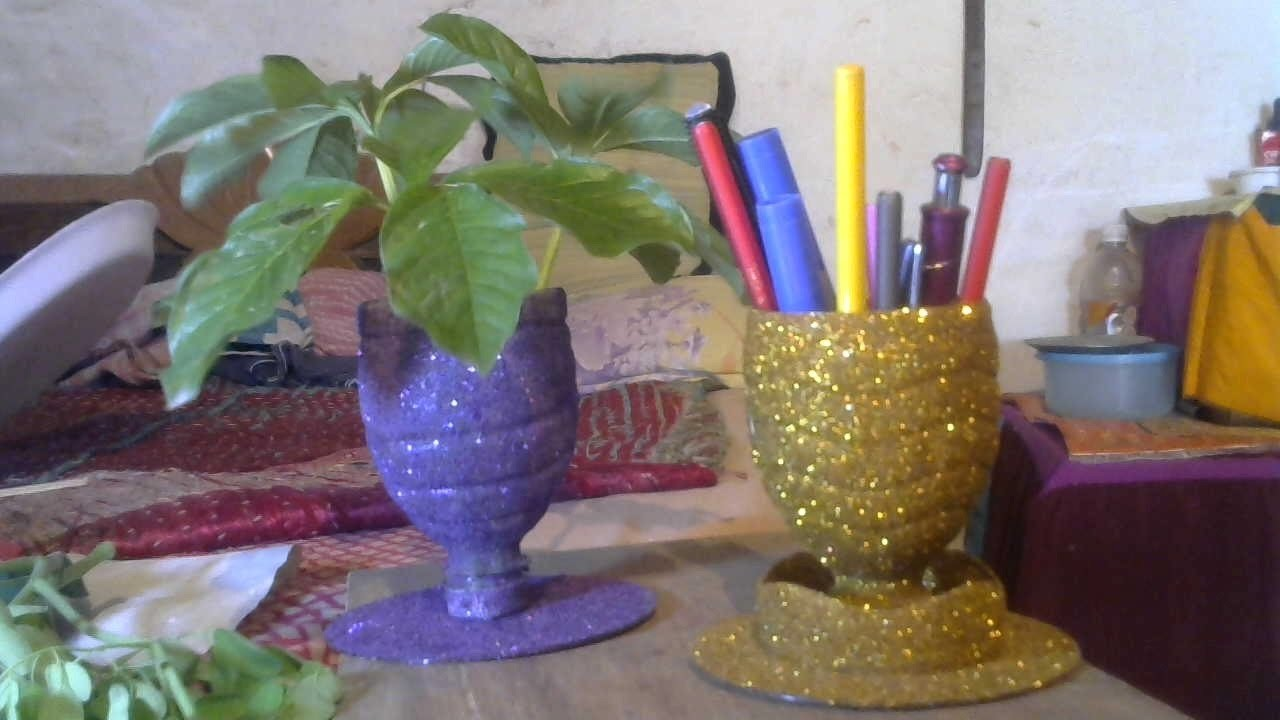 Craft ideas | How to make Stationary and tree case using plastic bottles | Craft Ideas #1