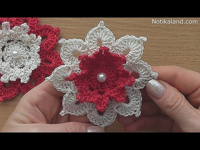Crochet flower tutorial VERY EASY