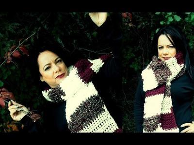 Crochet super bufanda para principiantes