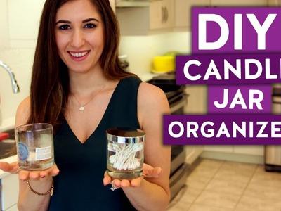 DIY Candle Jar Organizers! (Clean My Space)