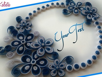 DIY Crafts: How to make DIY paper quilling greeting card Design - Handmade DIY designs!