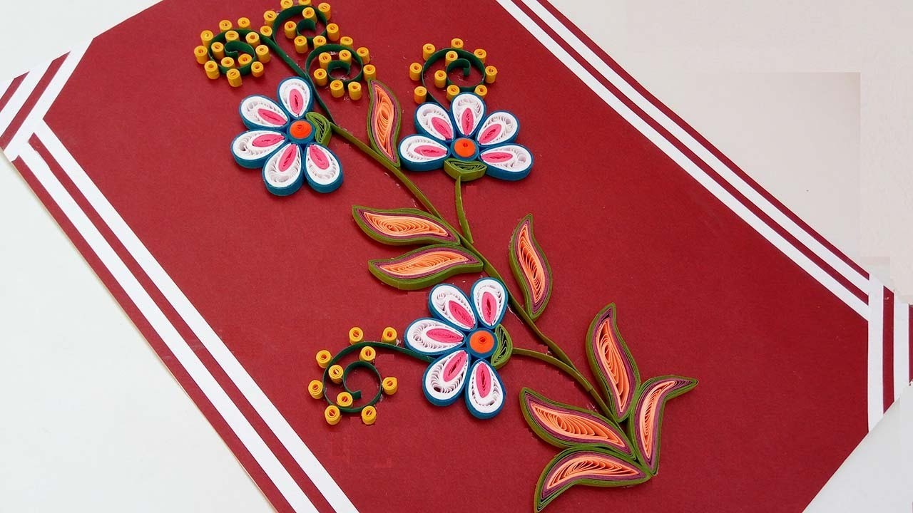 Diy Crafts How To Make Paper Quilling Flowers Step Step Christmas