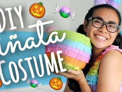 DIY Cute Piñata Costume + Trick or Treat Bag! | SimplyMaci