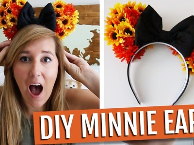 DIY DISNEY IT YOURSELF: FALL MINNIE EARS! | MollyBuck